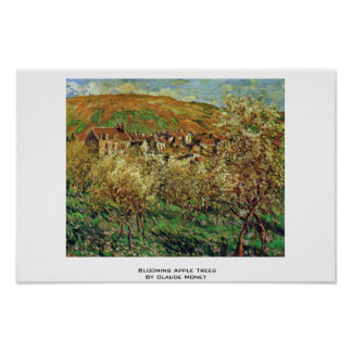 Blooming Apple Trees By Claude Monet Print