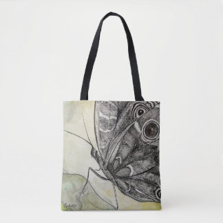 Blooming Art - Butterfly Drawing with CraftiesPot Tote Bag