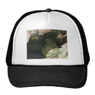 BLOOMING BARREL CACTI AND ASSORTED PHRASES TRUCKER HAT