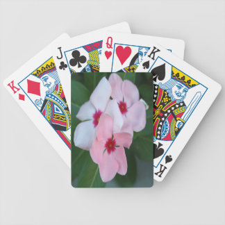 Blooming Beautiful Pink Impatiens Flowers Bicycle Playing Cards