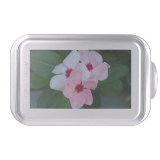 Blooming Beautiful Pink Impatiens Flowers Cake Pan