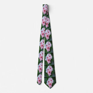 Blooming Beautiful Pink Impatiens Flowers Neck Tie