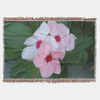 Blooming Beautiful Pink Impatiens Flowers Throw
