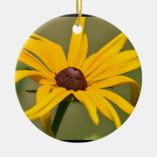 Blooming Black Eyed Susan Ceramic Ornament