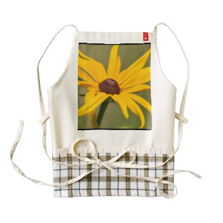 Blooming Black Eyed Susan Zazzle HEART Apron