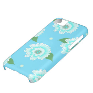 Blooming Blue Floral Case For iPhone 5C