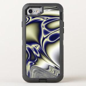 Blooming Blue Fractal OtterBox Defender iPhone 7 Case