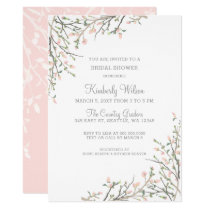 Blooming Blush Floral Wedding Bridal Shower Card