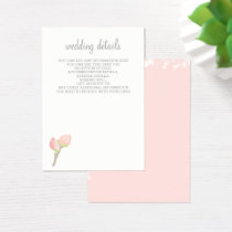 Blooming Blush Floral Wedding cards