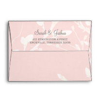 Blooming Blush Floral Wedding Envelope