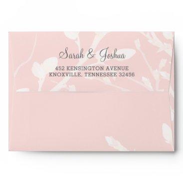 Blooming Blush Floral Wedding Envelope