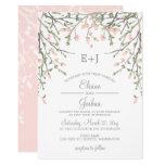Blooming Blush Floral Wedding Invitations at Zazzle