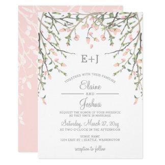 Blooming Blush Floral Wedding Invitations