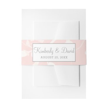 Blooming Blush Floral Wedding  Invitations Invitation Belly Band