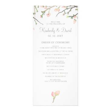 Blooming Blush Floral Wedding Programs