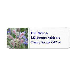 Blooming Borage Return Address Label
