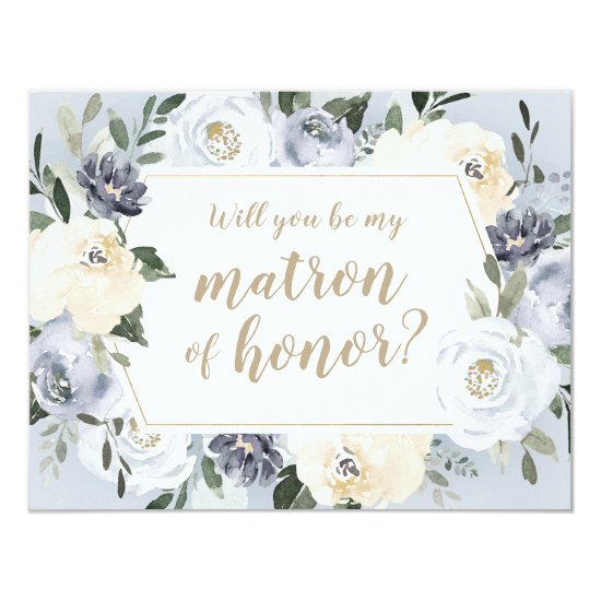 Blooming botanical Will you be my matron of honor Invitation