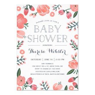 Blooming Botanicals | Baby Shower Invitation