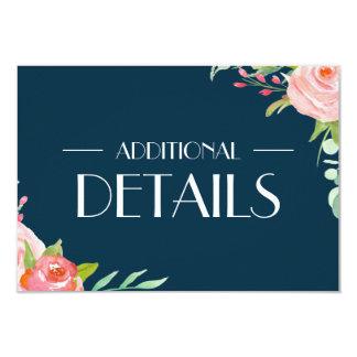 Blooming Botanicals   Wedding Details Enclosure Card