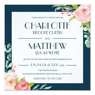 Blooming Botanicals   Wedding Invitation