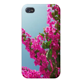 Blooming bougainvillea case for iPhone 4