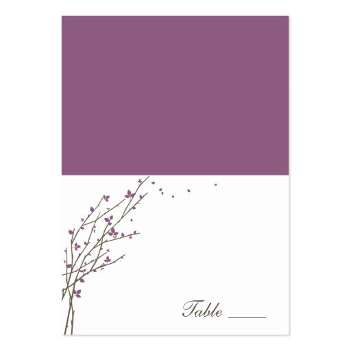 how to make folded place cards in word