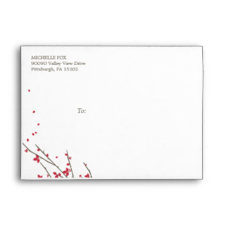 Blooming Branches Wedding Collection  (color: Ceri Envelopes