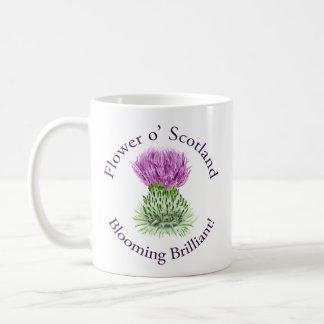 Blooming Brilliant Scottish Thistle Classic White Coffee Mug