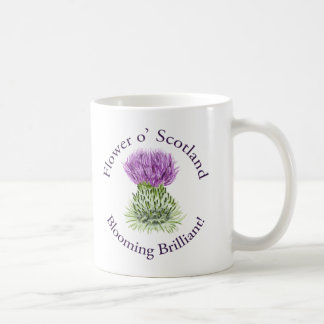 Blooming Brilliant Scottish Thistle Coffee Mug