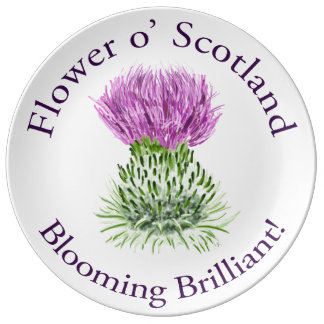 Blooming Brilliant Scottish Thistle Dinner Plate