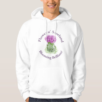 Blooming Brilliant Scottish Thistle Hoodie