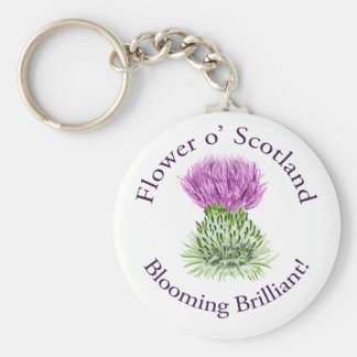 Blooming Brilliant Scottish Thistle Keychain