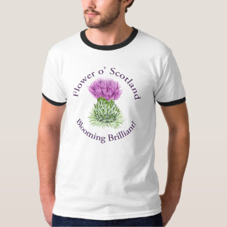 Blooming Brilliant Scottish Thistle T Shirt