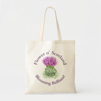 Blooming Brilliant Scottish Thistle Tote Bag