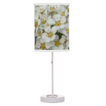 blooming bush with dew desk lamp