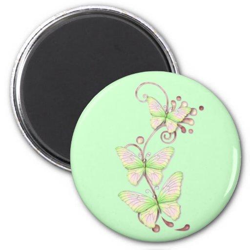 Blooming Butterflies 6 Fridge Magnet
