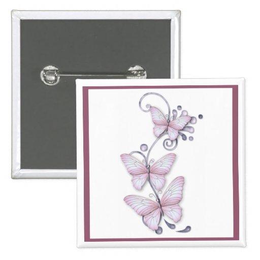 Blooming Butterflies Pinback Button