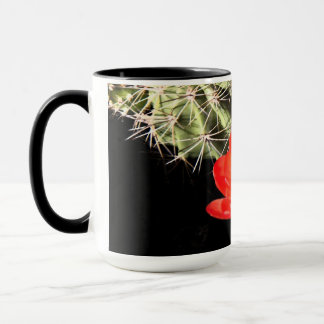 Blooming Cactus at Night Mug