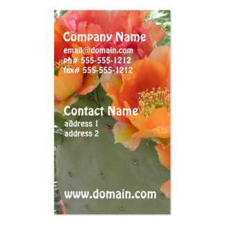 Blooming Cactus Double-Sided Standard Business Cards (Pack Of 100)