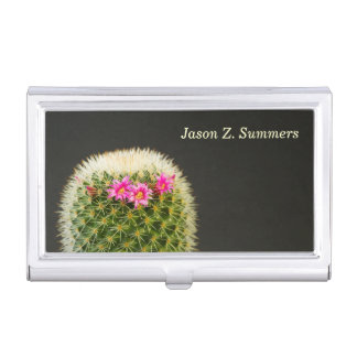 Blooming Cactus Business Card Holder
