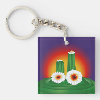 Blooming Cactus Key Chains
