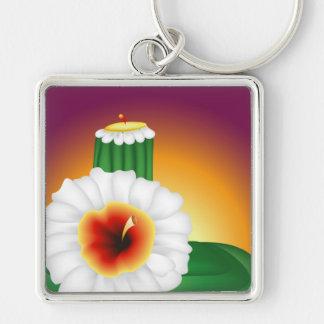 Blooming Cactus Key Chain