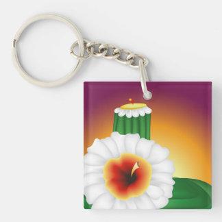 Blooming Cactus Acrylic Keychain
