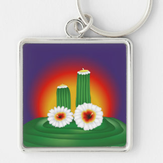 Blooming Cactus Keychains