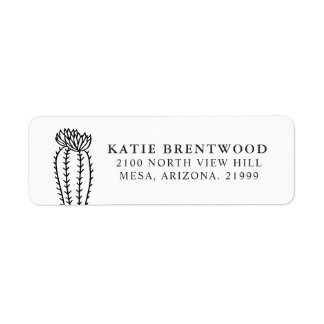 Blooming Cactus | Return Address Label