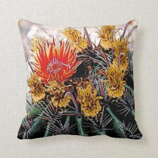 Blooming Cactus, throw pillow