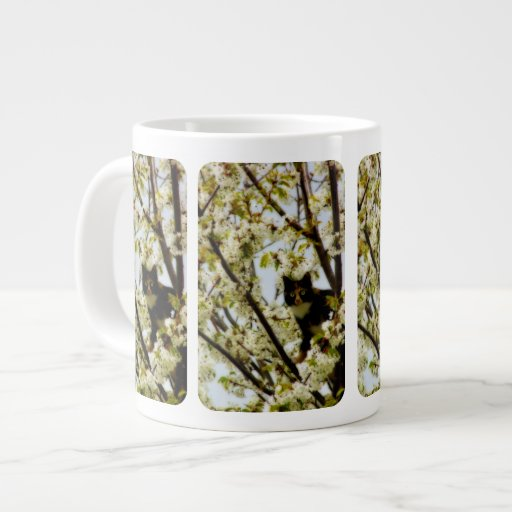 Blooming Cat Extra Large Mugs