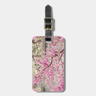 blooming cherry and apricot trees bag tag