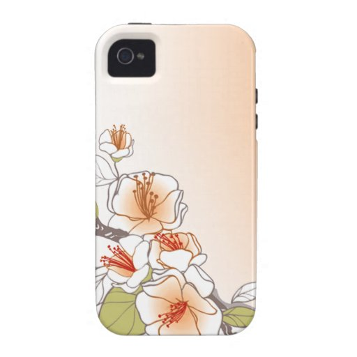 Blooming Cherry Blossoms designer peach iPhone 4/4S Covers