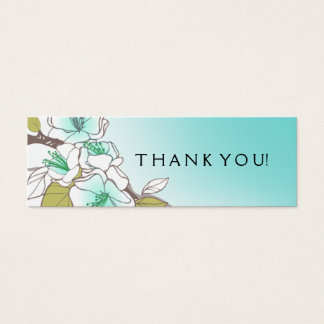 Blooming Cherry Blossoms Gift Tag aqua